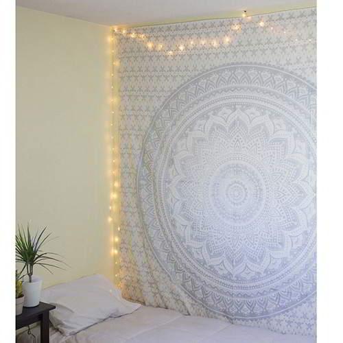 Flower Square Yoga Mat Shawl RC8A6D Light Gray 6pcs