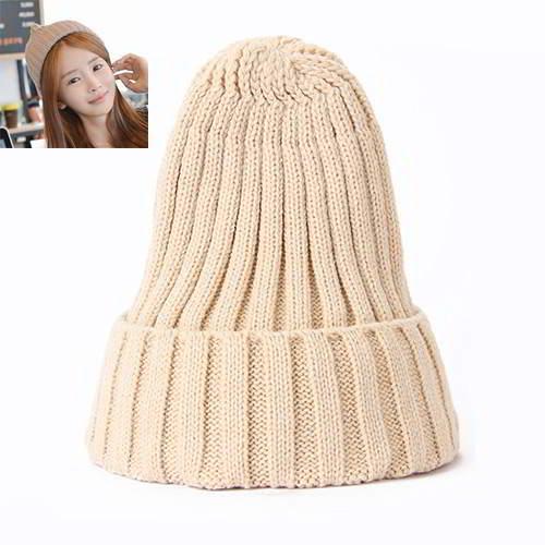 Pure Color Simple Knit Hat RBEC87 Khaki 6pcs