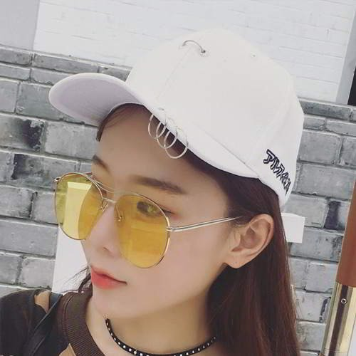 Round Shape Pure Color Peaked Cap RBED5A White 6pcs
