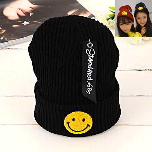 Smiling Face Pattern RBCBBC Black 6pcs
