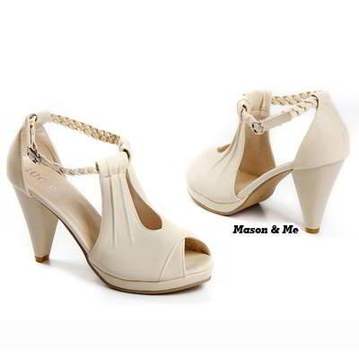 Platm High Heel Sandals General SABFBF Beige