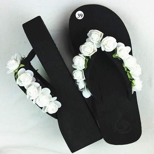 Flower Beach Shoes RAC776 White 6pcs