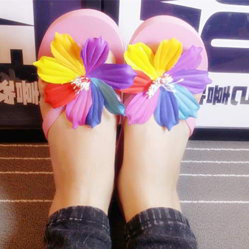 Flower Beach Shoes RAC7F8 Plum Red 6pcs