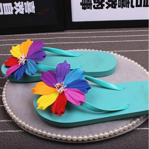 Flower Beach Shoes RAC7F6 Light Blue 6pcs
