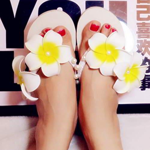 Two Flowers Beach Shoes RAC8EB White 6pcs