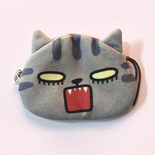 Kitten Cartoon Cat Pattern RBF7DA Gray