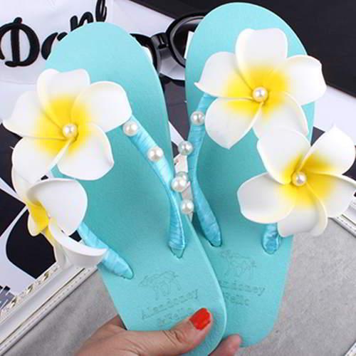 Two Flowers Beach Shoes RAC8ED Light Blue 6pcs