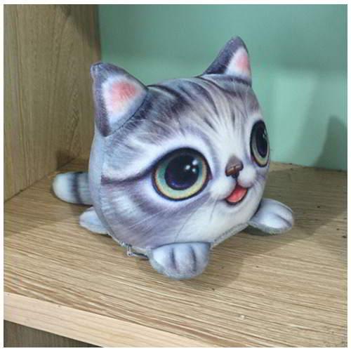 Kitten Big Eyes Cat Pattern Decorated RBF6F8 Gray