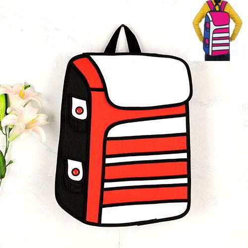 Cartoon 3D Strip Backpack RBDA56 Red 6pcs