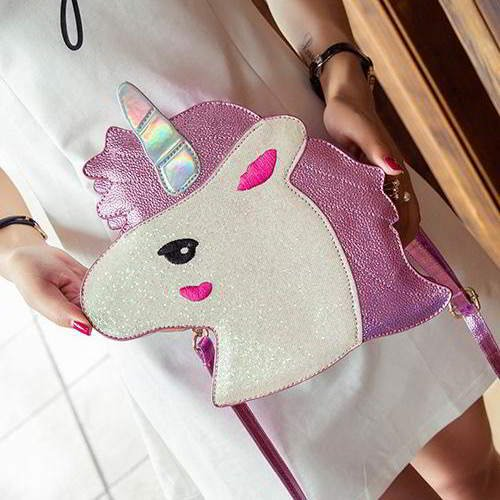 Unicorn Color Matching Shoulder Bag RC76FF Pink 6pcs