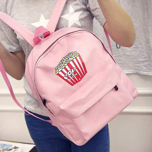 Chips Pattern Pure Color Backpack RBAFD7 Pink 6pcs