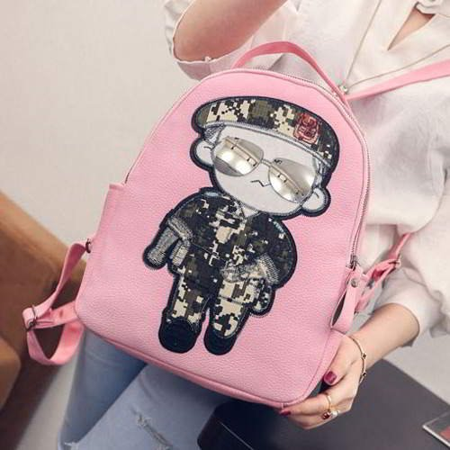 Captain Yoo Backpack RBAFE6 Pink 6pcs