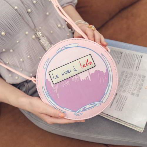 Perfume Bottle Pattern Round RBD67A Pink 6pcs