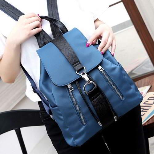 Double Zippers Pure Color Design RB7888 Sapphire Blue 6pcs