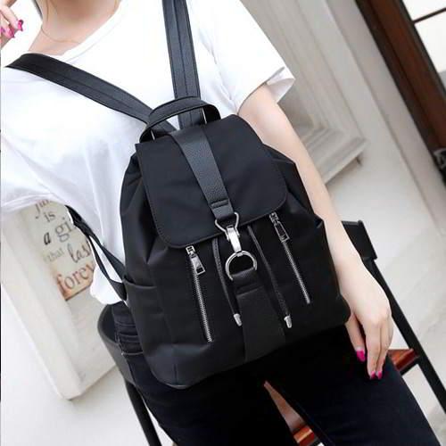 Double Zippers Pure Color Design RB7885 Black 6pcs