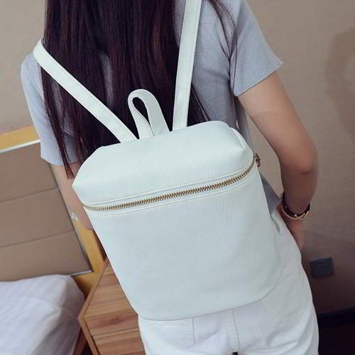 Metal Chain Simple Backpack RBD65D White 6pcs