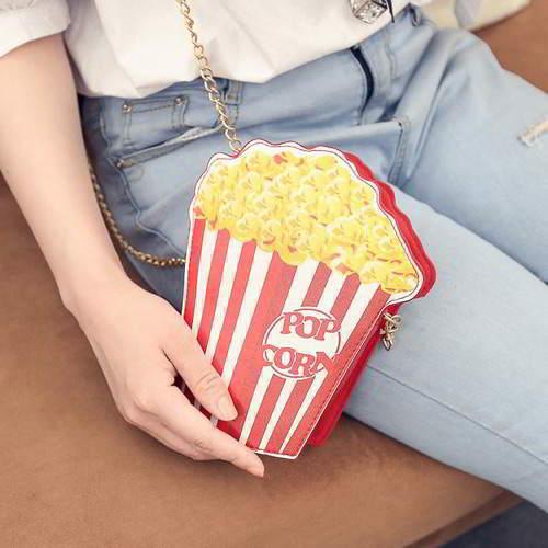 Popcorn Shape Bag RBCCBB Multi Color 6pcs