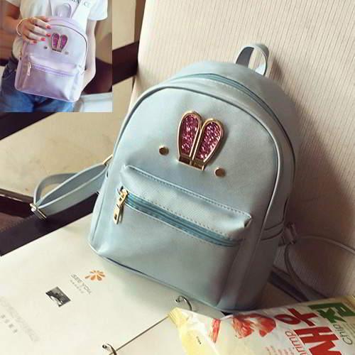 Rabbit Pure Color Backpack RBAF6C Blue 6pcs