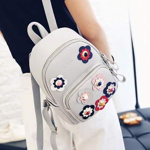 Rivet Flower Backpack RBBDC6 Gray 6pcs