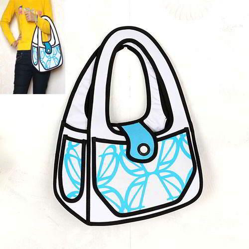 Cartoon 3D Handbag RBDA5B Blue 6pcs