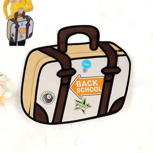 Cartoon 3D Letter Backpack RBDA5C Brown 6pcs