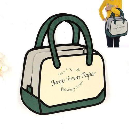 Cartoon 3D Letter Handbag RBDAA8 Dark Green 6pcs