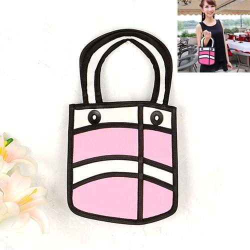 Cartoon 3D Letter Handbag RBDAA7 Pink 6pcs