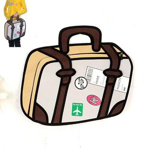 Cartoon 3D R Handbag RBDAAF Brown 6pcs