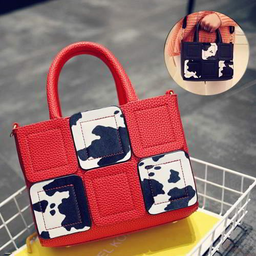 Color Matching Decorated Square Design RACD67 Red 6pcs