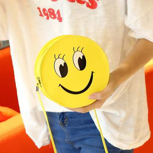 Smiling Face Round Simple RC756D Yellow 6pcs