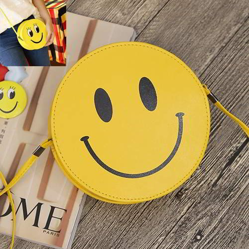 Smiling Face Round Simple RC756E Dark Yellow 6pcs