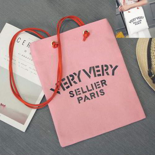 Letter VERY Canvas Bag RBE7AB Pink 6pcs