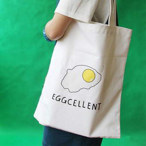 Omelette Letter Canvas Bag RBE7BE White 6pcs