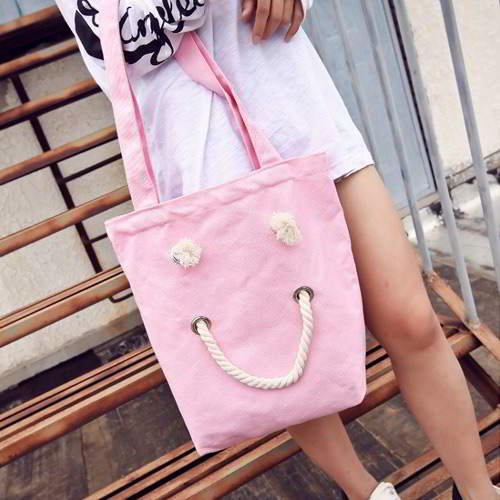 Smiling Face Pattern Simple RBD65A Pink 6pcs