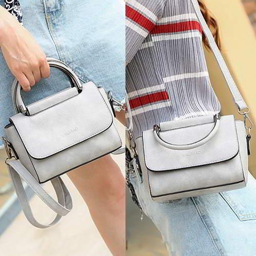 Pure Color Design Shoulder Bag RBD6AA Gray 6pcs