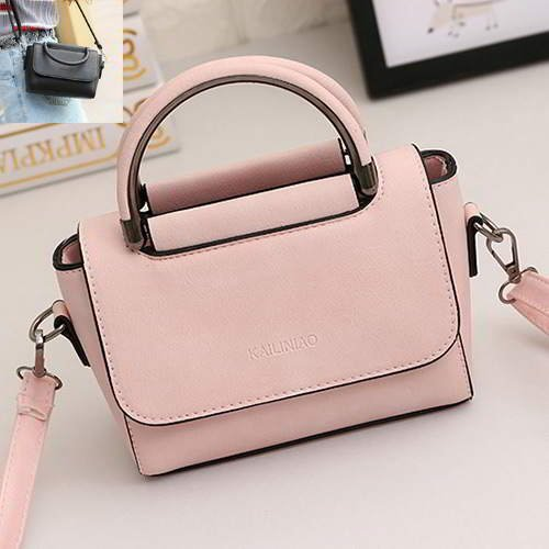 Pure Color Design Shoulder Bag RBD6AB Pink 6pcs