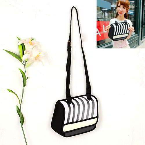 Cartoon 3D Strip Shoulder Bag RBDA57 Black 6pcs