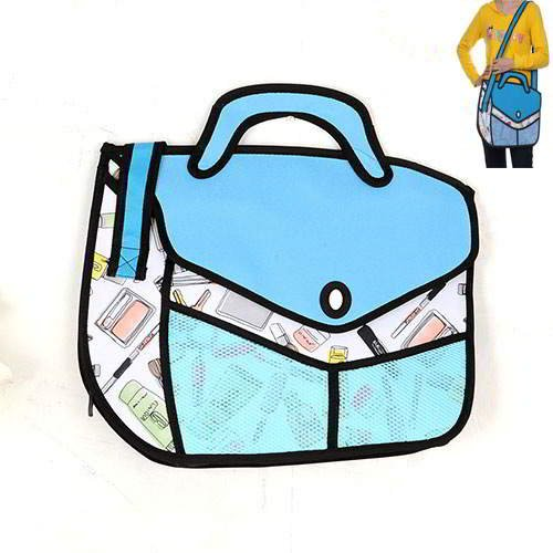 Cartoon 3D R Shoulder Bag RBDA5A Blue 6pcs