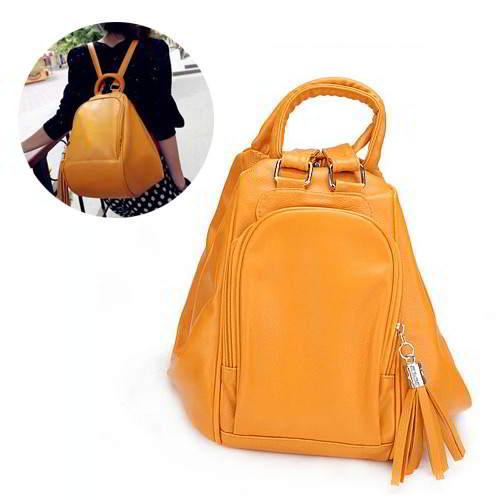 Tassel Decorated Pure Colore Design RAAE8B Yellow 6pcs