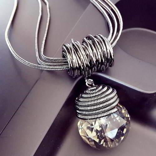 Bulb Shape Pendant Bth T57885 Silver 6pcs