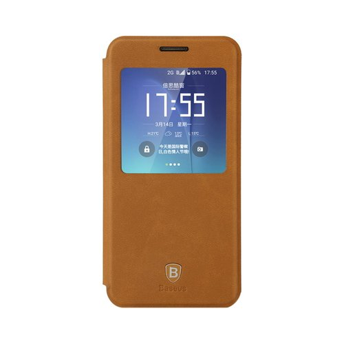 harga BASEUS Terse Leather Case For Samsung Galaxy S7 Cokelat Ralali.com