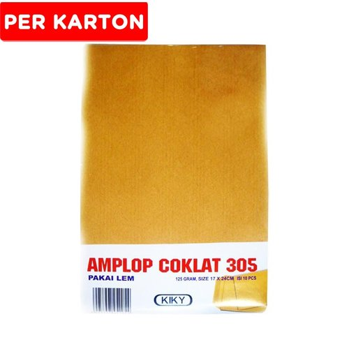 KIKY Amplop Coklat 305 10Pcs