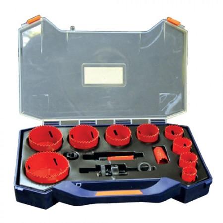 KRISBOW KW0200668 Hole Saw Kit 19-76MM Plastic @15Pcs type:KW0200669