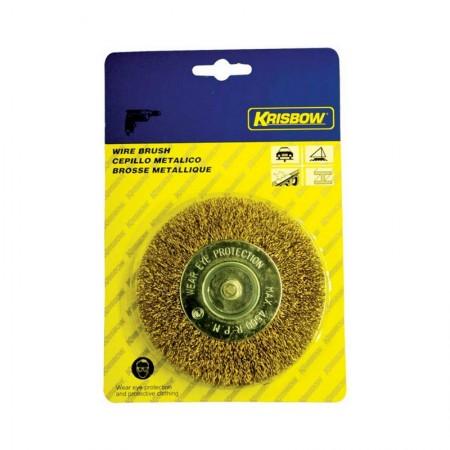 KRISBOW Wheel Brush 600010-9009 KW0300055 100 mm