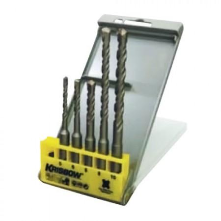 KRISBOW KW0200540 SDS Plus Masonry Drill 5-12MM @5Pcs