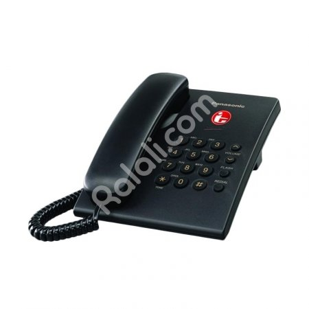 PANASONIC Single Line Telepon KX-TS505MX Telephone [Hitam]