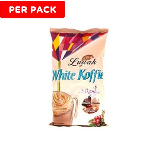 LUWAK White Koffie 3 Rasa 20gr Isi 10Renceng