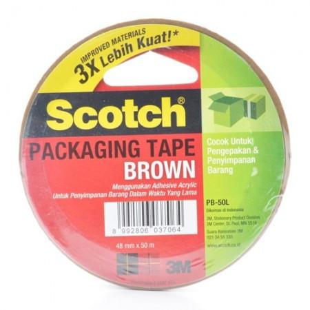 SCOTCH PB50L Brown Pack Tape 7000040176 4mmx50m