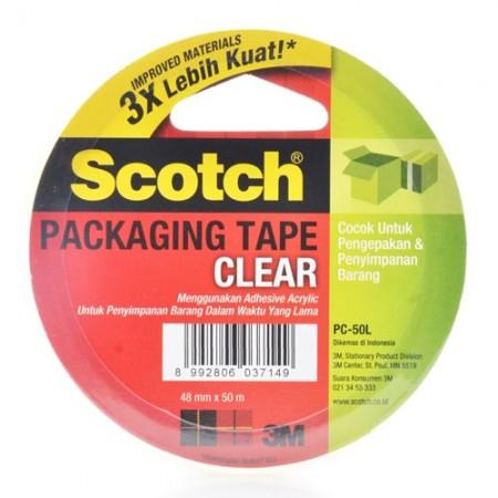 SCOTCH PC50L Clear Pack Tape 7000040177 4mmx50m