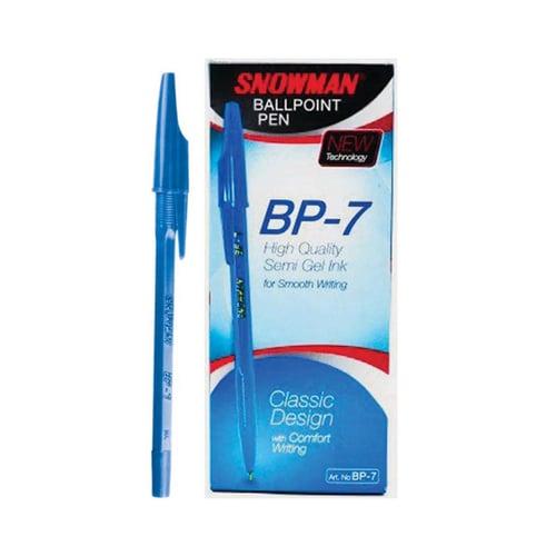 SNOWMAN B Pen Ink BP7 Biru 12s